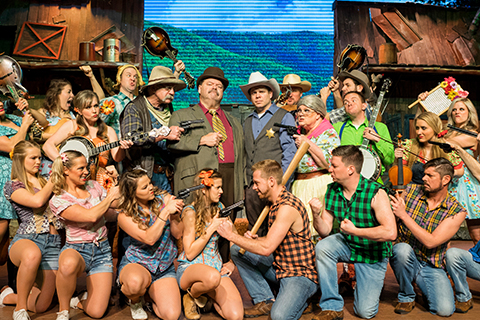 The cast of the Hatfield & McCoy Dinner Feud in Pigeon Forge, Tennessee gearing up for another feudin' family show, where guests staying at Xplorie participating properties can enjoy a free admission.